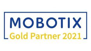 Mobotix Gold-Partner 2021 Logo